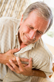 A symptom of atrial fibrillation is chest discomfort.